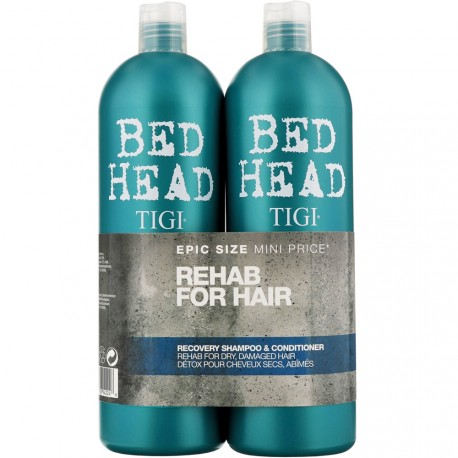 Bed Head Tigi® - Pack Rehab For Hair Detox pour Cheveux secs, abîmés - 2x750ml
