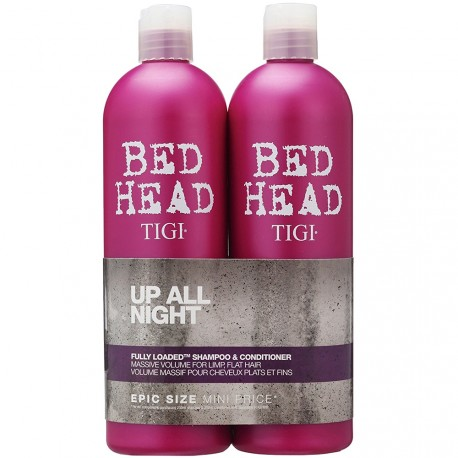 Bed Head Tigi® - Pack Up All night Volume massif pour Cheveux fins & plats - 2x750ml