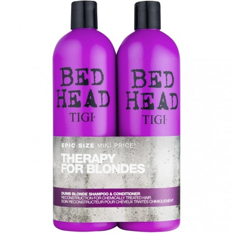 Bed Head Tigi® - Pack Therapy for blondes Shampooing & Après shampooing Cheveux colorés 2x750ml