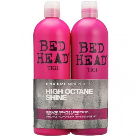 Bed Head Tigi® - High Octane Shampooing & Après shampooing Brillance cheveux ternes - Pack 2x750ml