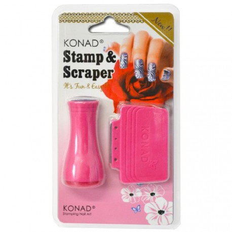 Konad - Tampon et raclette pour stamping nail art