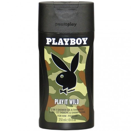Playboy - Play It Wild Gel Douche & Shampooing Homme - 250ml