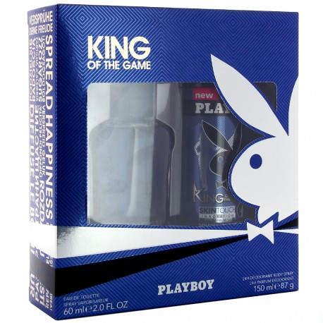 Playboy - King of the game Coffret Homme Déodorant spray 150ml + Eau de Toilette 60ml
