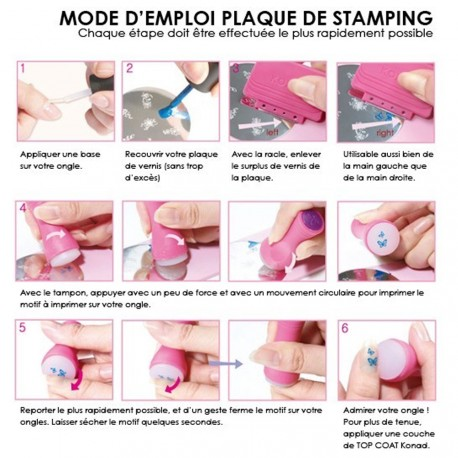 Konad - Tampon double et raclette pour stamping nail art