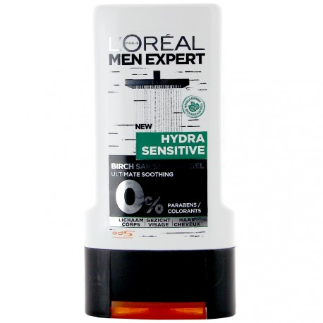 L'Oréal Men Expert - Gel Douche Hydra Sensitive sève de bouleau - 300ml