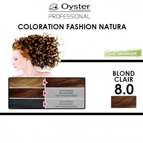 Oyster Fashion natura - Coloration 8.0 Blond Clair