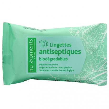 Nu Moments - Lingettes antiseptiques biodégradables x 10