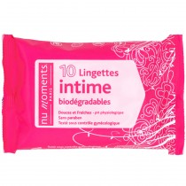 Nu Moments - Lingettes intime biodégradables x 10
