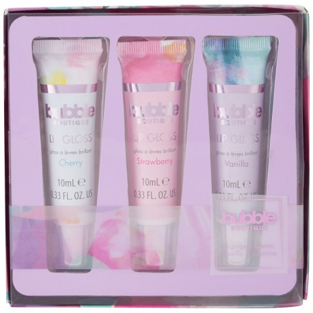 Style & Grace - Coffret Bubble boutique - Gloss à lèvres - 3x10ml