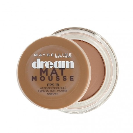 Maybelline - Fond de Teint Dream Mat mousse n°48 Beige ensoleillé - 18 ml