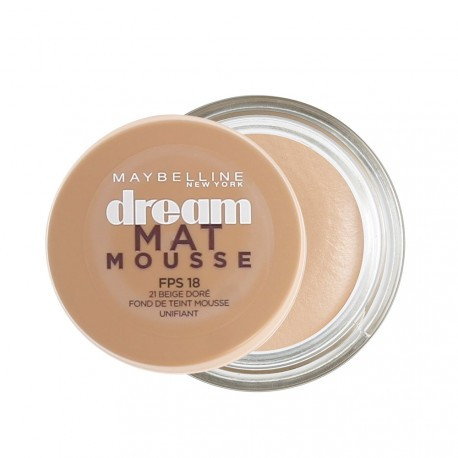 Maybelline - Fond de Teint Dream Mat mousse n°21 Beige doré - 18 ml