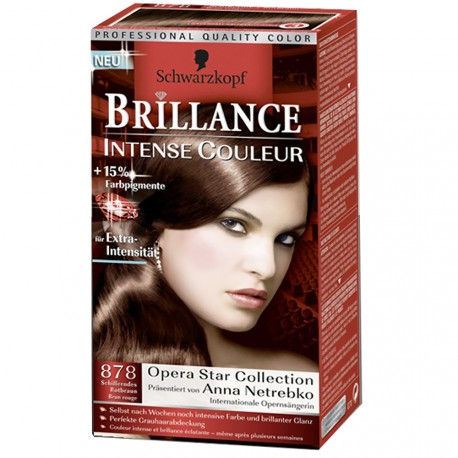 Schwarzkopf - Coloration Brillance 878 Brun rouge