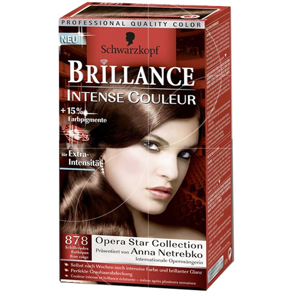Schwarzkopf Coloration Brillance 878 Châtain Rouge
