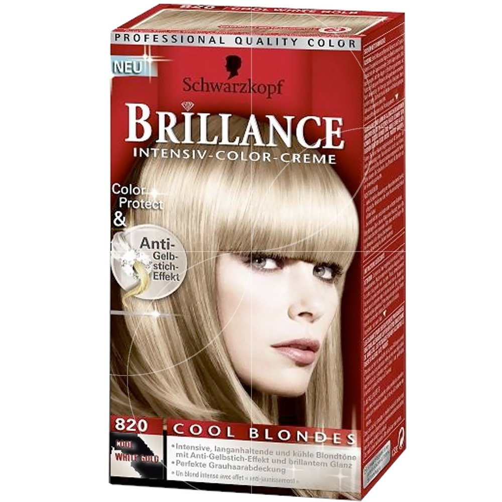 Schwarzkopf - Coloration Brillance 820 Or Blanc Froid