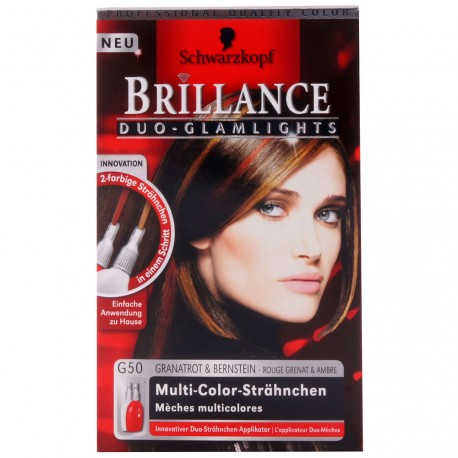 Schwarzkopf - Coloration Brillance G50 Rouge grenat et Ambre