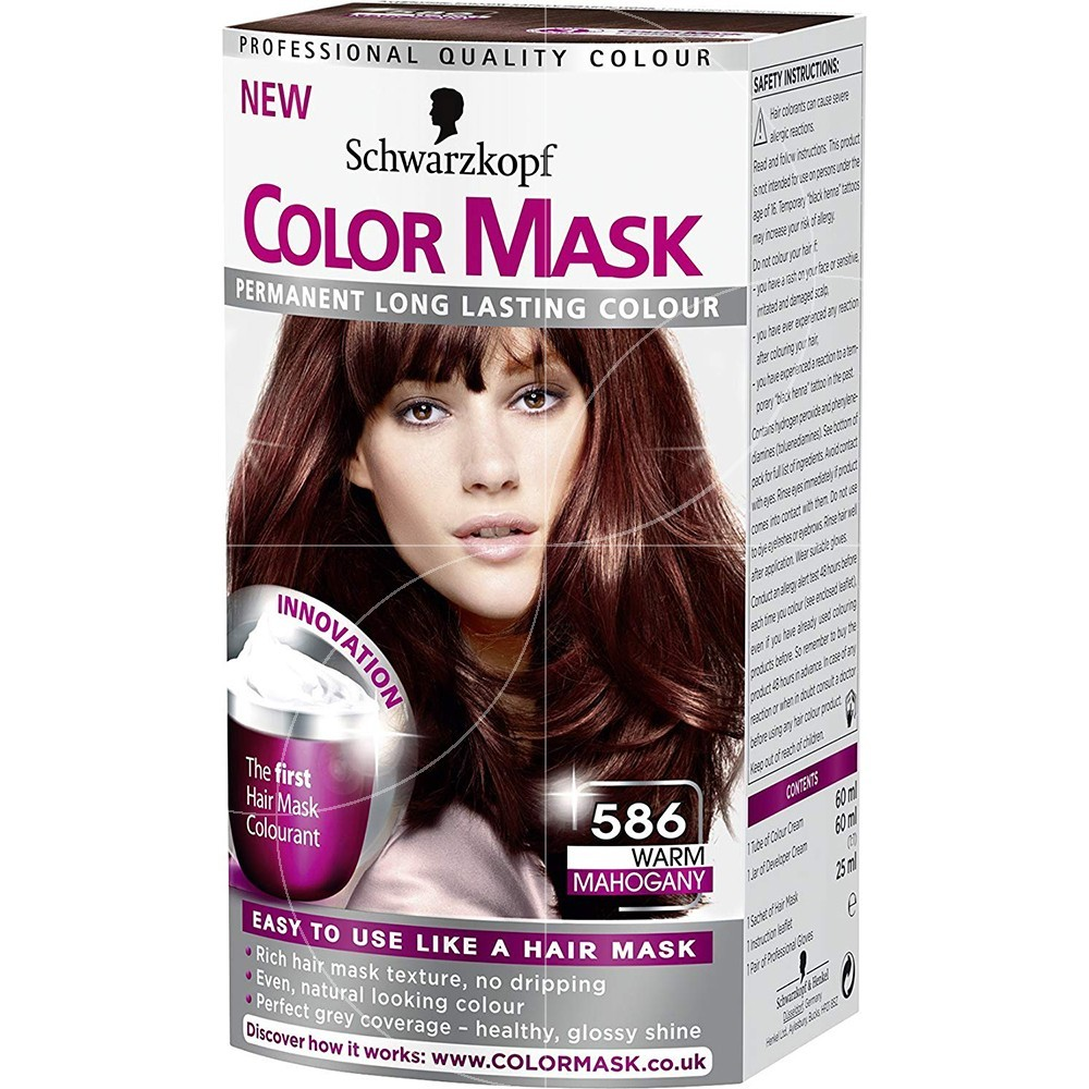 Schwarzkopf - Coloration Permanente Color Mask - 586 Acajou