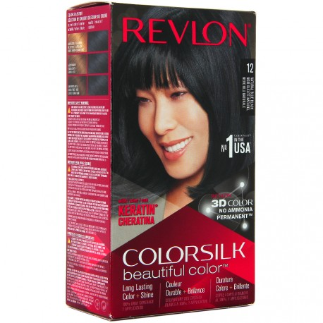Revlon - Coloration Colorsilk n°12 Noir Bleuté Naturel