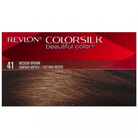 Revlon - ColorationColorsilk n°41 Châtain moyen