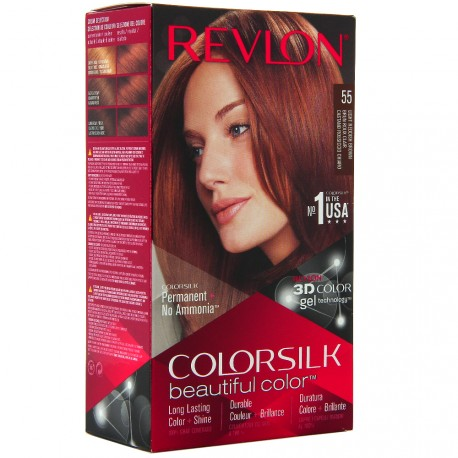 Revlon - Coloration Colorsilk n°55 Brun Roux Clair