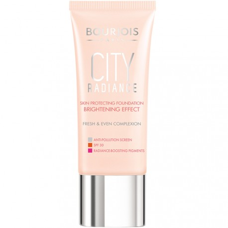 Bourjois - City Radiance Fond de teint protecteur anti-grise mine 05 Beige Doré - 30ml