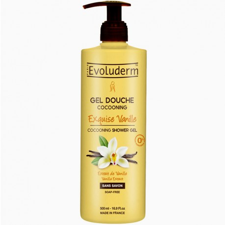 Evoluderm - Gel Douche Cocooning Exquise Vanille Sans Savon - 500ml