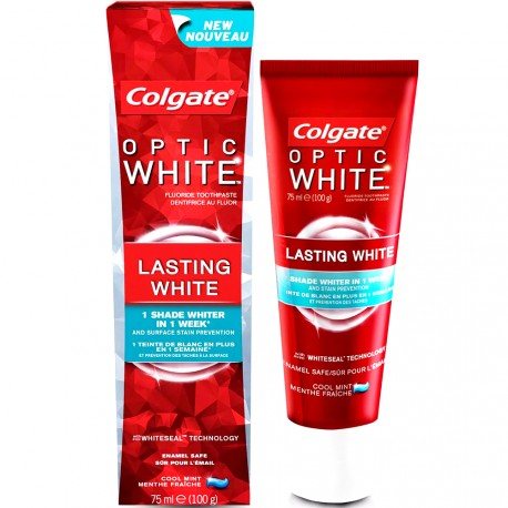 Colgate - Dentifrice Optic white - Blancheur - Fluor Menthe fraîche - 75ml