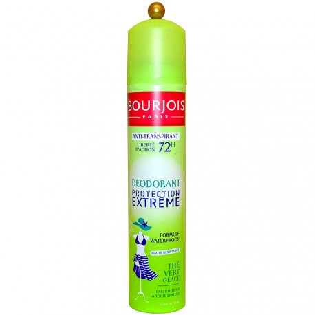 Bourjois - Déodorant Spray Anti-Transpirant 72H Waterproof au Thé Vert Glacé - 200ml