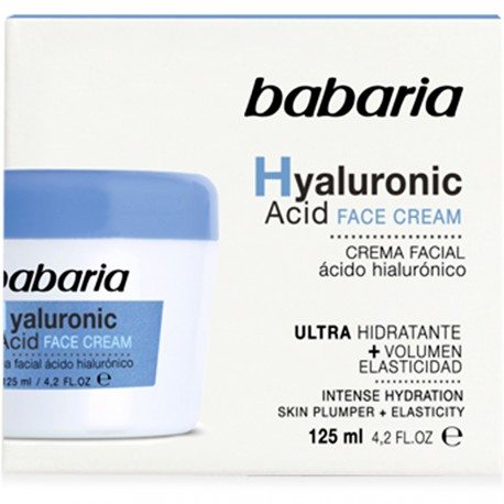Babaria - Crème Visage Acide Hyaluronique Ultra-Hydratante - 125ml