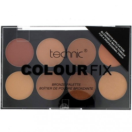 technic - Colour fix Palette de 8 Poudres Bronzantes - 8x3,5g