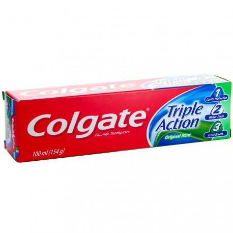 Colgate - Dentifrice Triple Action Menthe Original - 100ml