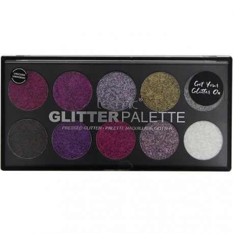 technic - Glitter palette Unicorn Uniform! 10 fards à paupières - 10x2,5g