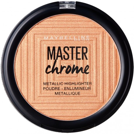 Gemey Maybelline - Poudre Enlumineur Chrome Master n°100 Molten Gold - 9g