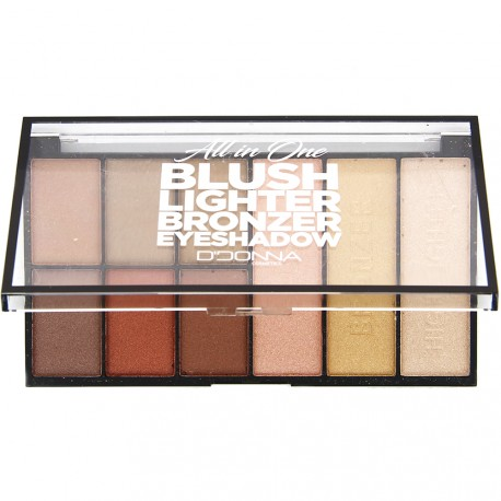 D'Donna - Palette Blush Lighter Bronzer et Eyeshadow N°2 - 31g