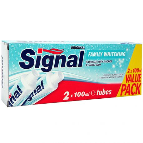 Signal - Pack de 2 Dentifrices Family Whitening - 2x100ml