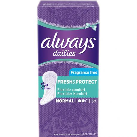 Always dailies - Protège-Slips Normal Fresh & Protect - 20pcs