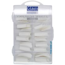 Glam Cosmetiques - Faux ongles french white - 100 pcs