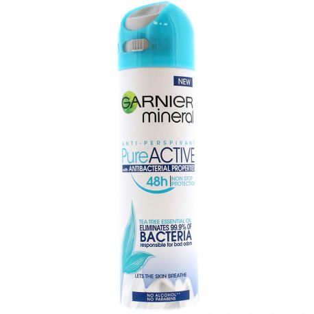 Garnier - Spray déodorant Pure Active 48H Tea Tree - 150ml