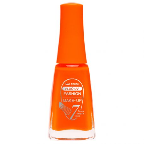 Fashion Make-Up - Vernis à ongles Fluo UV n°401 Orange fluo - 11ml