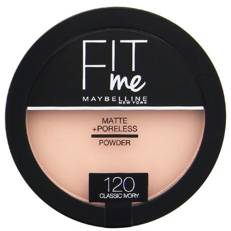 Maybelline - Fit me Poudre compacte Mat - 120 Classic ivory - 14g