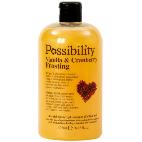 Possibility - Vanilla Cranberry Frosting Gel douche 3 en 1 - 525ml