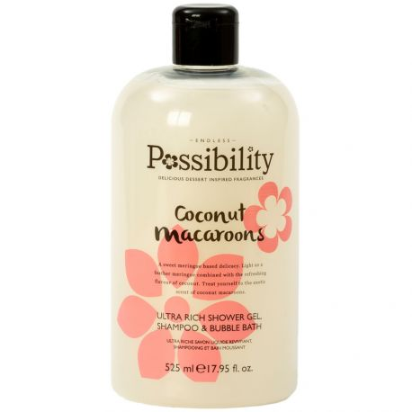 Possibility - Coconut Macaroons Gel douche 3 en 1 - 525ml