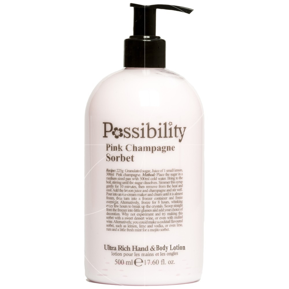 Possibility - Pink Champagne Sorbet Lait corps et mains - 500ml