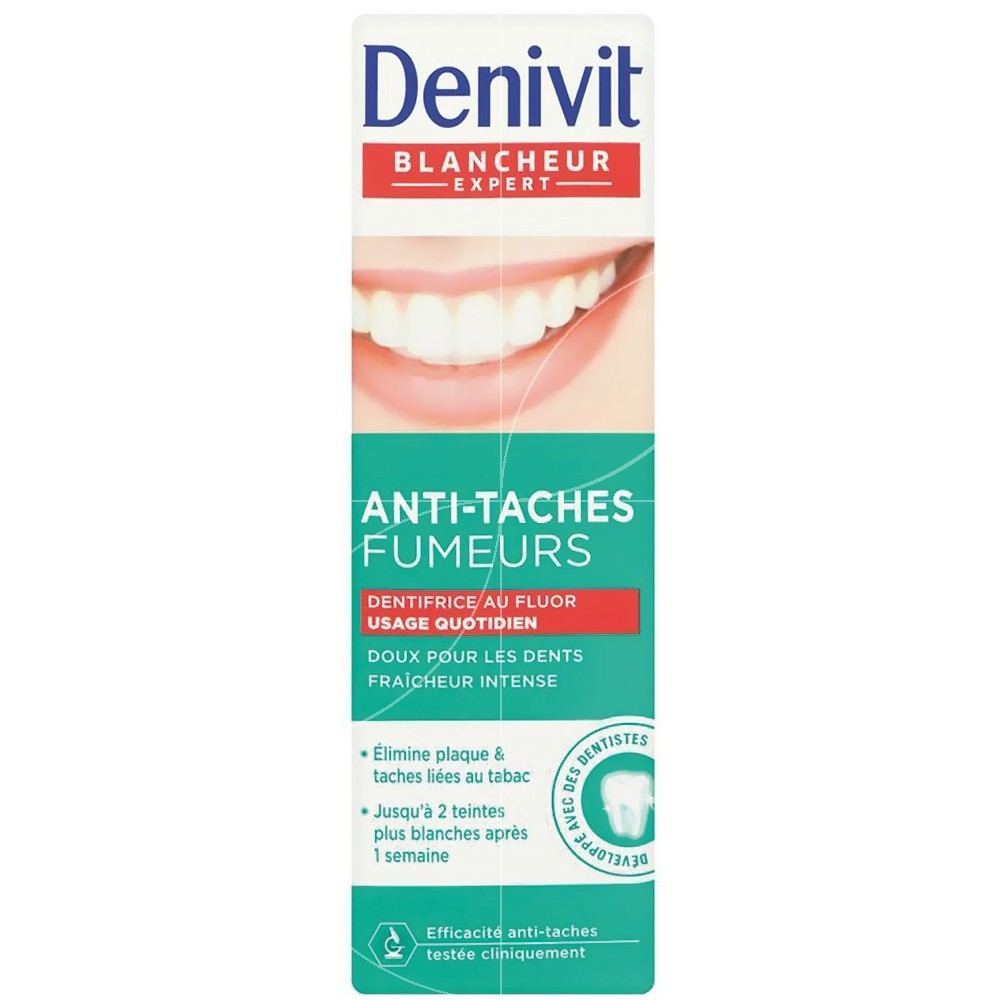 Denivit - Dentifrice Anti-taches fumeurs au fluor - 50ml