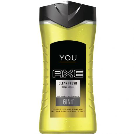 Axe You - Gel douche Clean Fresh Total action 6 en 1 - 250ml