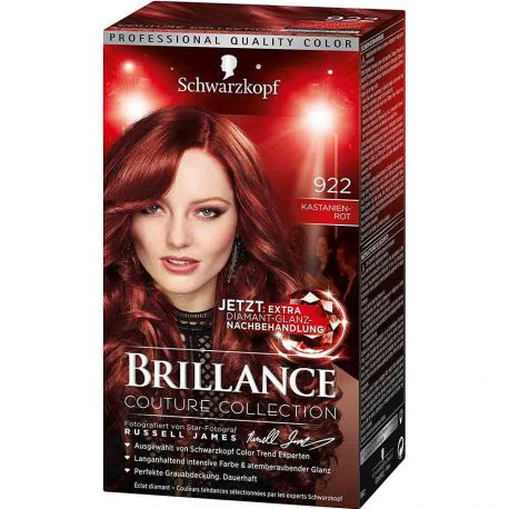 Schwarzkopf - Coloration Brillance 922 Rouge Châtaigne