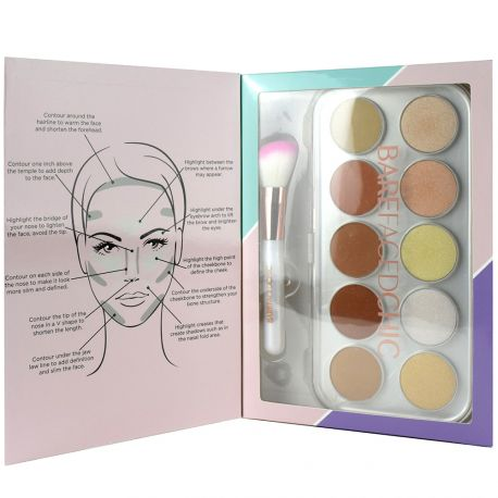 Bare faced Chic - Coffret Palette Contour & Strobe Kit