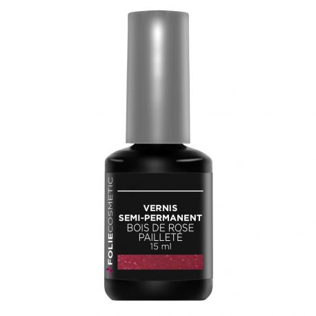 Folie Cosmetic - Vernis Semi-permanent- Bois de Rose Pailleté - 15 ml
