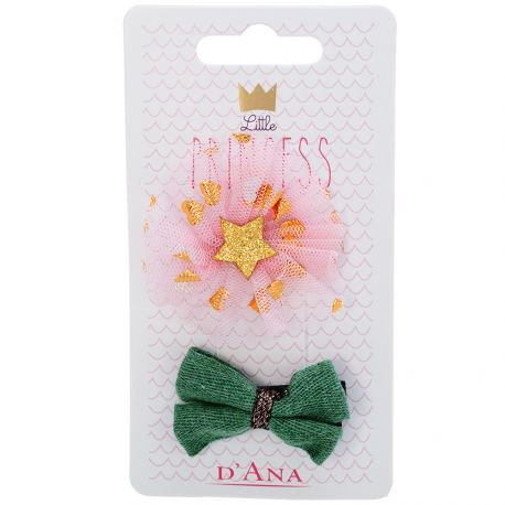 D'Ana - Little Princess Lot de 2 Barettes fantaisie
