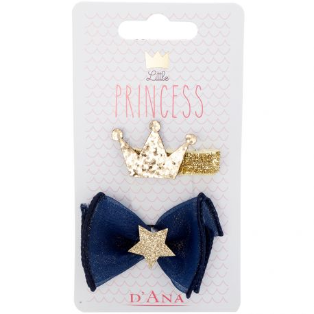 D'Ana - Little Princess Lot de 2 Barettes 310097