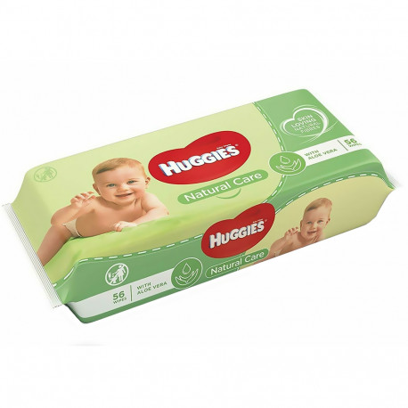 Huggies - 56 Lingettes nettoyantes - Natural Care